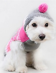 Cat / Dog Sweater / Hoodie Rose Dog Clothes Winter / Spring/Fall Color Block Cute / Casual/Daily