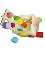 Building Blocks For Gift  Building Blocks Leisure Hobby Square Wood 2 to 4 Years / 5 to 7 Years / 8 to 13 Years Rainbow Toys