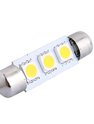 39mm 0.6W 50LM 3000K 3x5050 SMD Warm White LED for Car Reading/License Plate/Door Lamp (DC12V, 1Pcs)