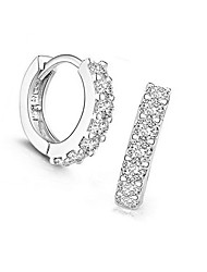 Women's Stud Earrings Hoop Earrings Jewelry European Sterling Silver Imitation Diamond Circle Jewelry For Daily
