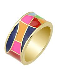 Anéis Casual Jóias Liga Feminino Maxi anel 1peça,7 / 8 Preto / Amarelo / Vermelho