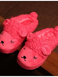 Girl's Slippers & Flip-Flops Comfort Fleece Casual Blue Brown Pink Peach