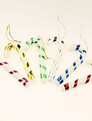 Рождественский декор Товары для Рождественской вечеринки Товары для отпуска 30Pcs Рождество Пластик Радужный
