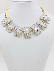 Women's Pendant Necklaces Statement Necklaces Heart Crystal Acrylic Imitation Diamond Flower Style Fashion Luxury Jewelry For Daily Casual