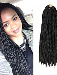 Box Braids Twist Braids Natural Black Hair Braids 24Inch Kanekalon 90g Synthetic Hair Extensions