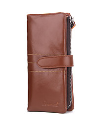 Contacts Genuine Leather Mens Long Wallet 6Phone Holder Purse Sports Casual Outdoor Office & Career Shopping Cowhide Wallet