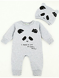 Baby Casual/Daily Animal Print One-Pieces,Rayon Spring Fall Long Sleeve