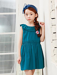 Girl's Casual/Daily Solid Dress,Rayon Summer Spring Fall Sleeveless