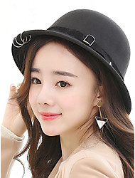 Autumn And Winter Fashion Three Wool Woolen Cloth Ring Basin Hat Lady Fashion Woolen Hats