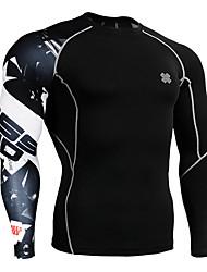 Corrida Blusas Manga Comprida Respirável Elastano Corrida Esportivo Wear Sports Com Elástico Apertado Roupa Esportiva Preto Primavera