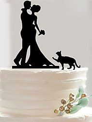 Acrylic cake inserted card The bride and groom the cake The bride and groom doll cake decorations