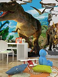 JAMMORY Large Modern Children 's Room Bedside Background Wall Wallpaper murals Non - woven Wall 3D Cartoon Dinosaur Large Murals XL XXL XXXL