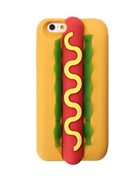 3D Hot Dog Silicone Case for iPhone 7 7 Plus 6s 6 Plus SE 5s 5