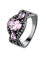 Ring Emerald AAA Cubic Zirconia Zircon Cubic Zirconia Alloy Simple Style Fashion Green Pink Jewelry Casual 1pc
