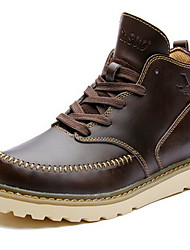 Men's Boots Fall Winter Other Cowhide Outdoor Casual Black Dark Brown Coffee Other