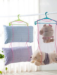Dry storage bag bag with clothes drying creative pillow airing hanger laundry net