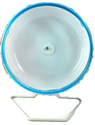 Roedores Chinchilas Rodas de Exercício Plástico Azul