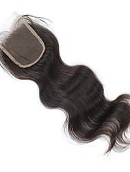 onda do corpo fechamento lace 3.5x4 fechamento cabelo humano suíço rendas grama marrom tamanho médio cap qualidade superior cabelo virgem