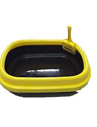 Кошка Чистка Ванночки Животные Товары для ухода за животными Компактность Желтый Пластик