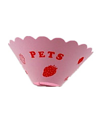 Cat Dog Collar Hands free Polka Dots Pink Plastic