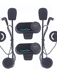 2pcs / lot freedconn 800m motocycliste cavaliers interphone hlmet casque avec radio fm