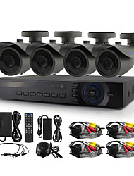 YanSe® 4CH 720P 1200TVL CCTV Camera DVR Kit IR Color Waterproof Security Cameras System 1.0MP AHD-M