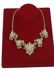 Women's Pendant Necklaces Statement Necklaces Flower Alloy Flower Style Statement Jewelry Jewelry For Daily Casual