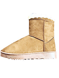 Women's Boots Winter Other Comfort Fleece Casual Flat Heel Others Black Red Dark Grey Camel Other