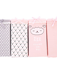 4 Pcs/Lot Women's Sexy Panties Cotton Spandex Seamless Underwear Girls Cute Briefs