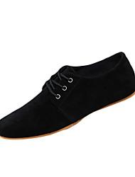 Для мужчин обувь Ткань Весна Осень Удобная обувь сутулятся сапоги Туфли на шнуровке Для прогулок Шнуровка Назначение Повседневные Черный