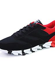 Masculino-Tênis-Outro-Rasteiro-Preto e Vermelho Preto e Branco-Couro Ecológico-Ar-Livre Para Esporte