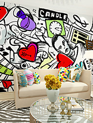 JAMMORY Large - scale Murals Chinese TV Background Wall Wallpaper Wall Cloth Abstract Simplicity XL XXL XXXL
