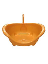 Chat Nettoyage Bains Animaux de Compagnie Accessoires de Toilettage Portable Orange Plastique