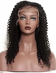 120 Dichte peruanisches reines Haar afro verworrene lockige Spitzeperücken mit dem Babyhaar für schwarze Frauen glueless volle Spitze