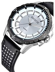 Men's Fashion Watch Quartz Calendar Water Resistant/Water Proof Noctilucent Genuine Leather Band Black Pink Brand
