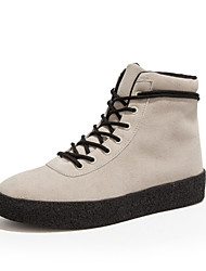 Herren-Sneaker-Lässig-PUAndere-Schwarz Beige Dunkelbraun