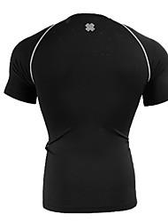 Homens Sem Mangas Corrida camadas de base Respirável Verão Moda Esportiva Corrida Elastano Apertado Preto Carta e Número