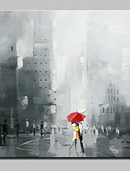 Large Hand Painted Modern Abstract Rain Days In The Street Oil Painting On Canvas Wall Art Pictures For Home Decoration Ready To Hang