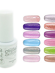 YeManNvYou®Sequins UV Color Gel Nail Polish No.145-156 (5ml, Assorted Colors)