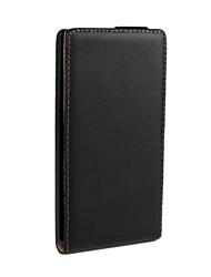 Для Кейс для Nokia Флип Кейс для Чехол Кейс для Один цвет Твердый Искусственная кожа Nokia Nokia Lumia 830