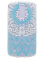 Pour Motif Coque Coque Arrière Coque Fleur Flexible PUT pour LG LG K10 LG K7 LG Nexus 5X LG X Power