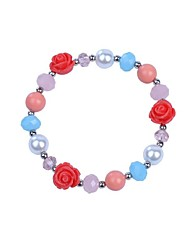Bracelet Chain Bracelet Alloy Flower Fashion Gift Party Daily Casual Jewelry Gift White Red Blue Orange,1pc
