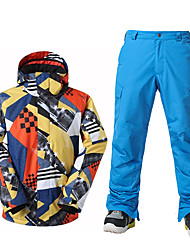 Ski Wear Ski/Snowboard Jackets Men's Winter Wear Polyester Winter ClothingWaterproof Thermal / Warm Windproof Fleece Lining Ultraviolet