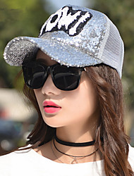 Fashion Spring And Summer Tide POWI Letters Sequins Net Caps Outdoor Sports Caps Shade Baseball Caps