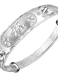 Bracelet Bangles S999 Sterling Silver Animal Shape Fashion Birthday Gift Jewelry Gift Silver1pc