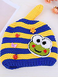 Boy's Fashion Winter Going out/Casual/Daily Knitting Keep Warm Frog Headgear Baby Hat Children  Peaked Cap
