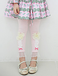Boy's Cotton Fashion Spring/Fall/Winter Going out/Casual/Daily Warm Sweet Lace Flower Children Pants Leggings