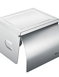 Contemporary 304 Stainless Steel Bathroom Toilet Paper Holder - Silver