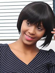 bord soignée cheveux courts perruque synthétique droite pour les femmes