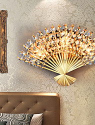 Valentine'S Day The Fan Wall Decoration Gifts Contemporary And Contracted Crystal Wall Lamp Led Light
